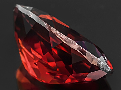 Red Zircon Oval 7.00ct