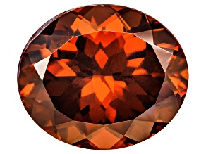 Red Zircon 14x12mm Oval 12.50ct