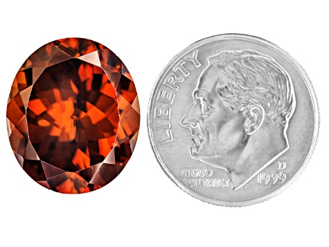 Red Zircon Oval 13.00ct