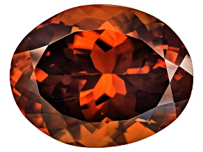 Red Zircon 15.5x12.5mm Oval 15.67ct