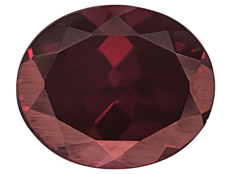 Red Zircon 12x10mm Oval 6.00ct