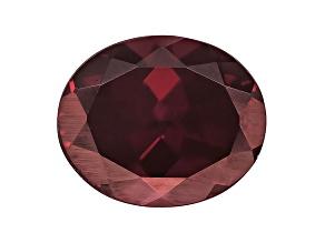 Red Zircon 12x10mm Oval 6.00ct