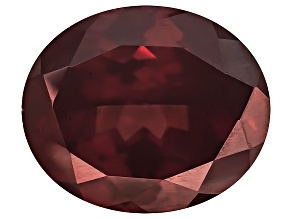 Red Zircon 13x11mm Oval 8.00ct