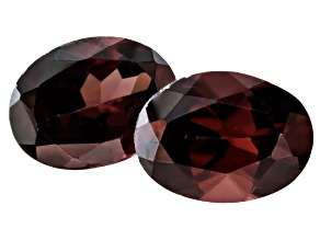 Red Zircon 8x6mm Oval Matched Pair 3.50ctw