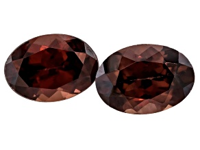 Red Zircon 7x5mm Oval Matched Pair 2.00ctw