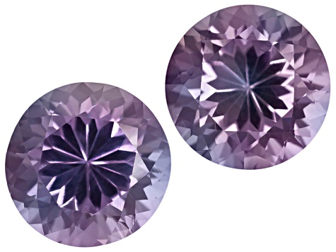 Color Change Lab Created Sapphire 6mm Round 2.00ctw Set Of 2