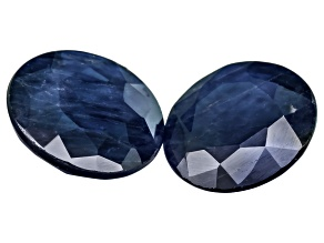 Blue Sapphire 7mm Round 2.96ctw Set Of 2