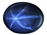 Sapphire Blue Star 9x7mm Oval Cabochon 2.70ct
