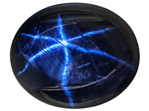 Sapphire Blue Star 11x9mm Oval Cabochon 5.50ct