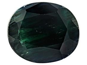 9.12ct Black Sapphire 14x12mm Oval