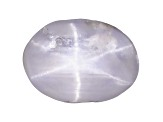 Sapphire Gray Star Unheated Oval Cabochon .75ct