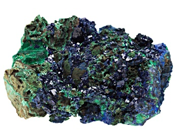 Azurite And Malachite Rough Specimen Large Size Free Form