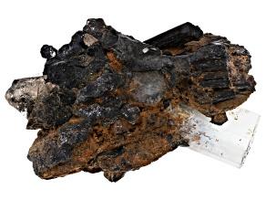 Aquamarine Crystal on Siderite Specimen
