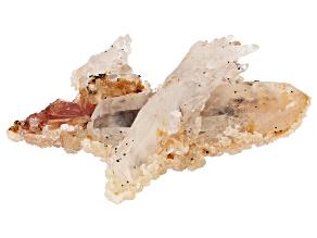 Chinese Inesite with Quartz and Apophyllite Specimen