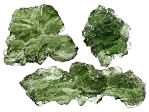 Moldavite Specimen Set of 3 5.67g