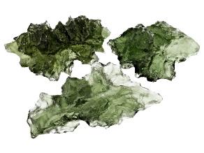 Moldavite Specimen Set of 3 5.768g