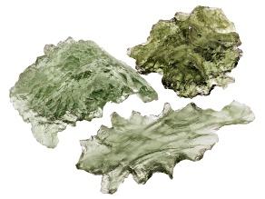 Moldavite Specimen Set of 3 4.28g