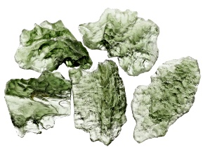 Moldavite Specimen Set of 5 8.03g
