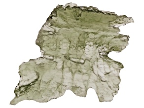 Moldavite 23x22.4mm Specimen 1.76g