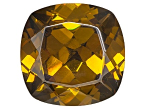 Sphalerite 15mm Square Cushion Diamond Cut 15.49ct