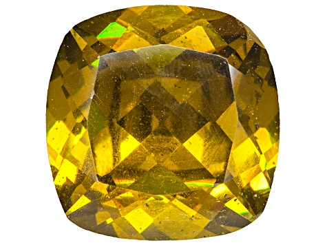 Sphalerite 12.1mm Square Cushion Diamond Cut 9.27ct