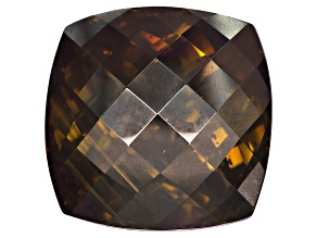 Sphalerite 19mm Square Cushion Checkerboaed Cut 43.28ct