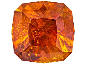 Sphalerite 11mm Square Cushion Diamond Cut 8.93ct