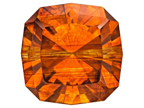 Sphalerite 12.7mm Square Cushion Custom Cut 11.41ct