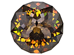 Sphalerite 33.28x32.57mm Round Specialty Cut 168.67ct