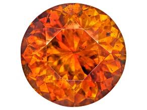 Orange Sphalerite 8mm Round Brilliant Cut 2.50ct
