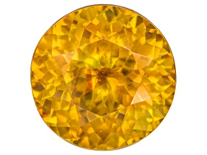 Orange Sphalerite 11.3mm Round Brilliant Cut 7.73ct