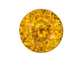 Orange Sphalerite 11.3mm Round Brilliant Cut 7.73ct