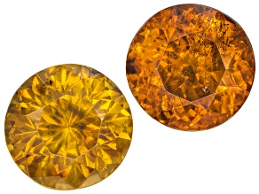 Sphalerite 7mm Round Brilliant Suite 4.29ctw