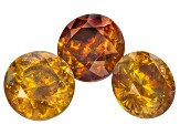 Sphalerite 7mm Round Brilliant Suite 5.64ctw
