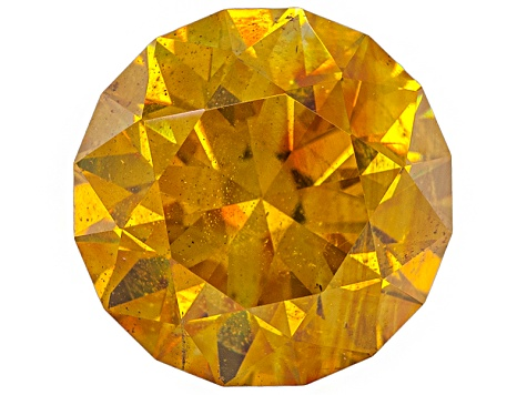Yellow Sphalerite 10mm Round Brilliant Cut 4.95ct
