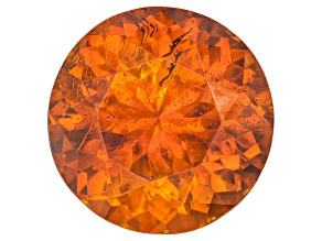 Orange Sphalerite 8mm Round Brilliant Cut 2.50ct