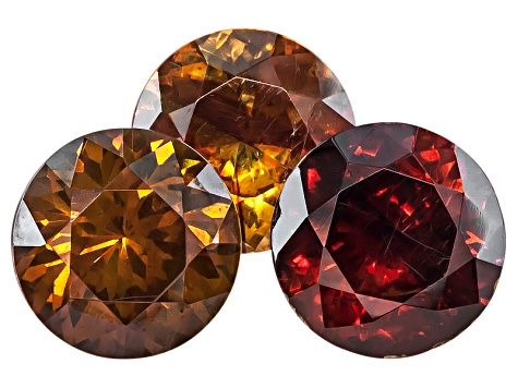 Sphalerite 8mm Round Brilliant Set 7.47ctw
