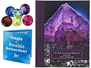 Sisk Gemology Reference Volume 1 With Free Single or Double Refraction Gemstone Set & Results Card