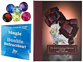 Sisk Gemology Reference Volume 3 with free single or double refraction gemstone set & results card