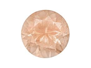 Peach Sunstone 6.5mm Round .90ct