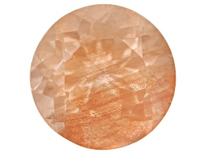 Peach Sunstone 8mm Round 1.50ct