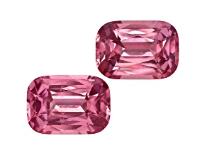 Pink Spinel 9.5x6.5mm Rectangular Cushion Mixed Step Matched Pair 5.04ctw