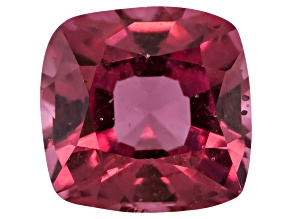 Red Spinel 5mm Square Cushion Mixed Step Cut .60ct