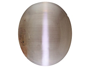 Cat's-Eye Sillimanite 16.27x13.75mm Oval Cabochon  14.21ct