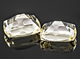 Yellow Lemon Sunstone 10x8mm Oval Fancy Cushion Cut 5.20ctw Set Of 2