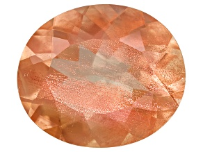 Peach Sunstone Aventurescence Oval 4.50ct