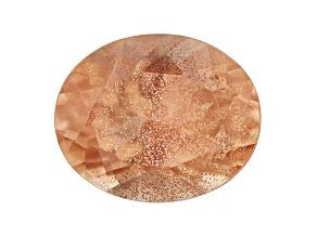 Peach Sunstone W/Schiller 11x9mm Oval 2.65ct