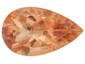 Peach Sunstone Aventurescence 16x10mm Pear Shape 4.90ct