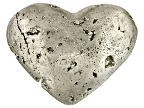 Pyrite Mineral Specimen Medium Heart Shape