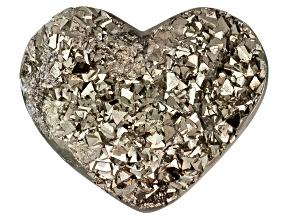 Pyrite Mineral Specimen Large Heart Shape